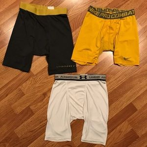 ❗️3 Pairs Compression Shorts-Nike & Under Armour❗️